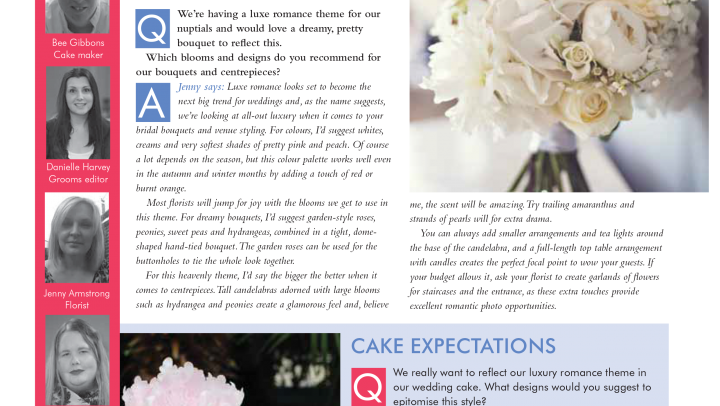 Published in 'Your Merseyside Wedding Magazine' April 2015